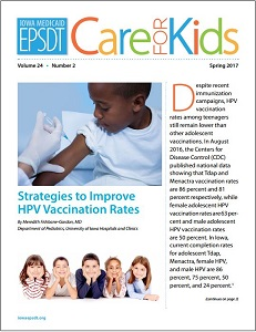 Care for Kids Newsletter cover