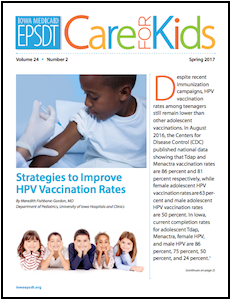 Care for Kids newsletter thumbnail